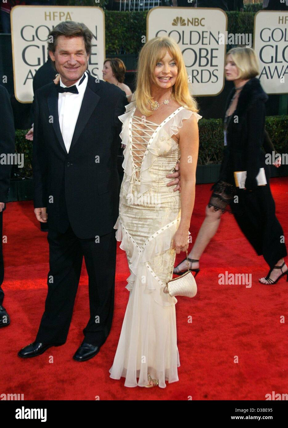 (dpa) - Hollywood couple Goldie Hawn and Kurt Russel arrive at the 60th Golden Globe Awards in Beverly Hills, 19 - Stock Image