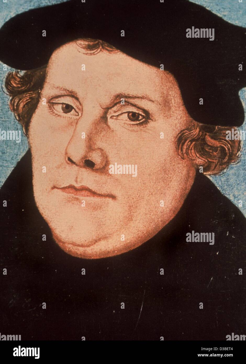 (dpa files) - Reformer Martin Luther, painted by Lucas Cranach the Elder. Starting 1920, Cranach and his workshop - Stock Image