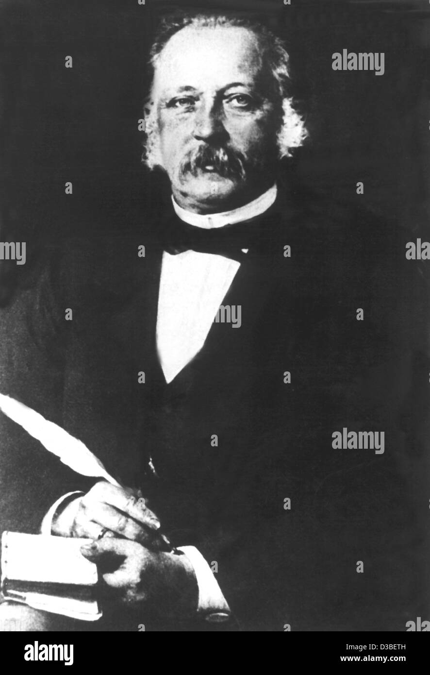 (dpa) - German author Theodor Fontane (undated filer). He was born in Neuruppin on 30 December 1819 and died in Stock Photo