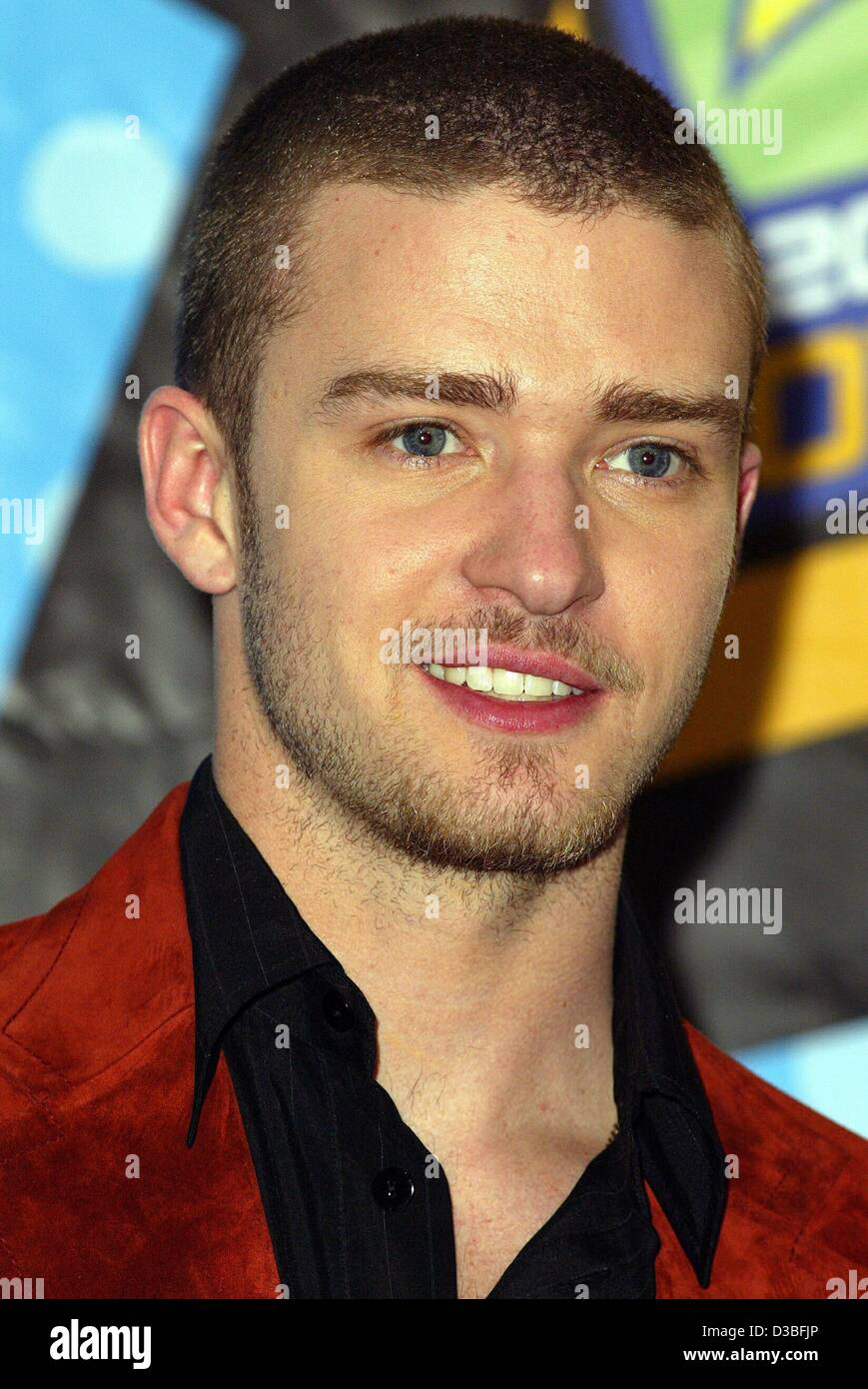 (dpa files) - 'N Sync singer Justin Timberlake smiles during the MTV Movie Awards in Los Angeles, 31 May 2003. - Stock Image