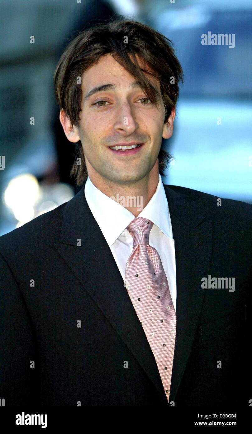 (dpa) - US actor Adrien Brody ('The Pianist') arrives to the award ceremony for the Laureus Sports Award - Stock Image