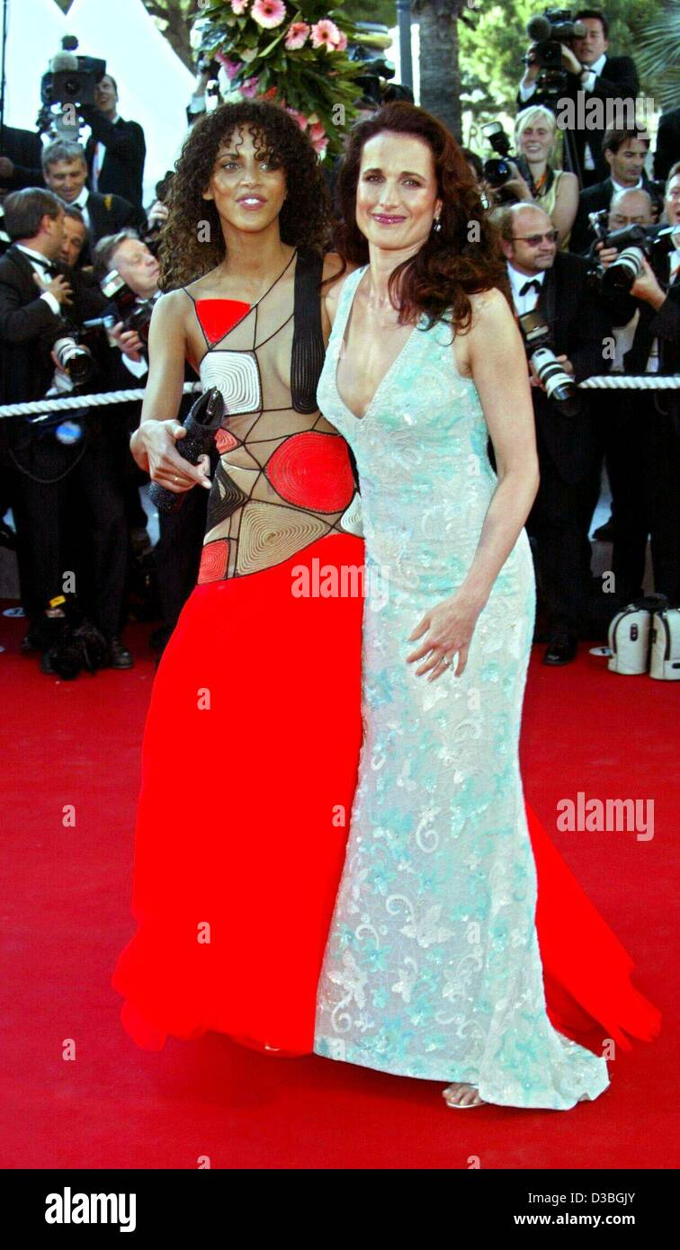 (dpa) - Actress Andie MacDowell (R) and Noemie Lenoir pose for the photographers at the opening gala of the 56th - Stock Image
