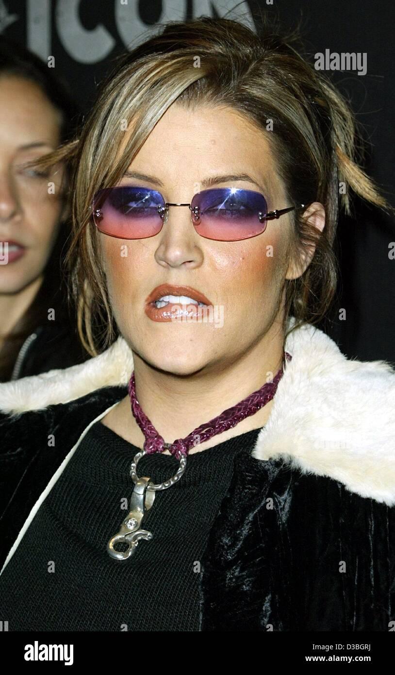 dpa) - Lisa Marie Presley, the daughter of the Elvis Presley, in Los