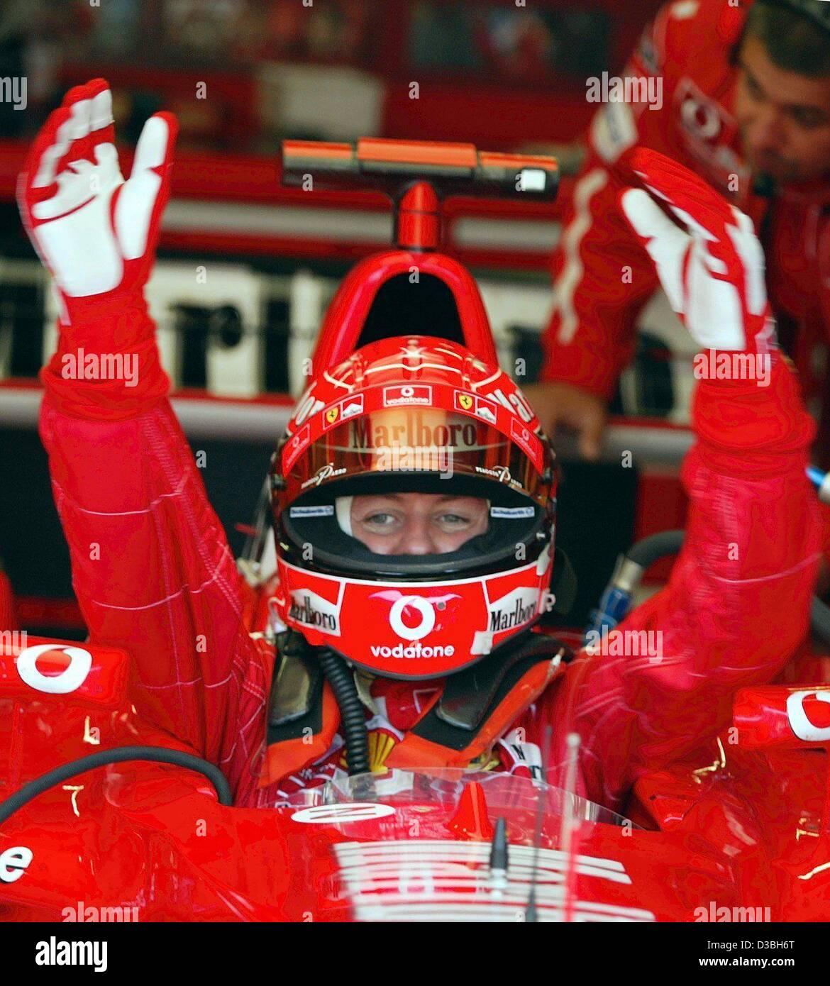 Dpa German Formula One Champion Michael Schumacher Ferrari Stock Photo Alamy