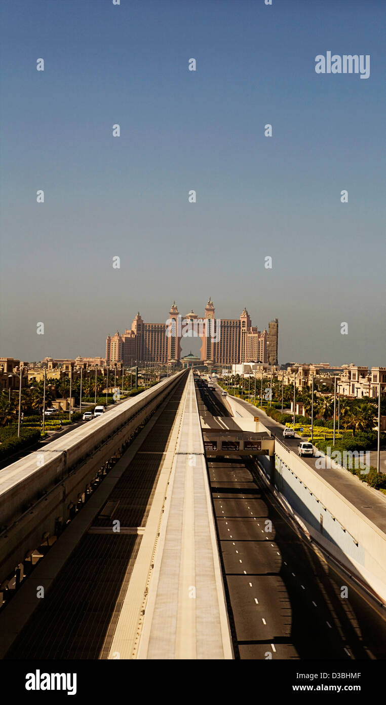 The Atlantis Palm Hotel As Viewed From The Approaching Monorail