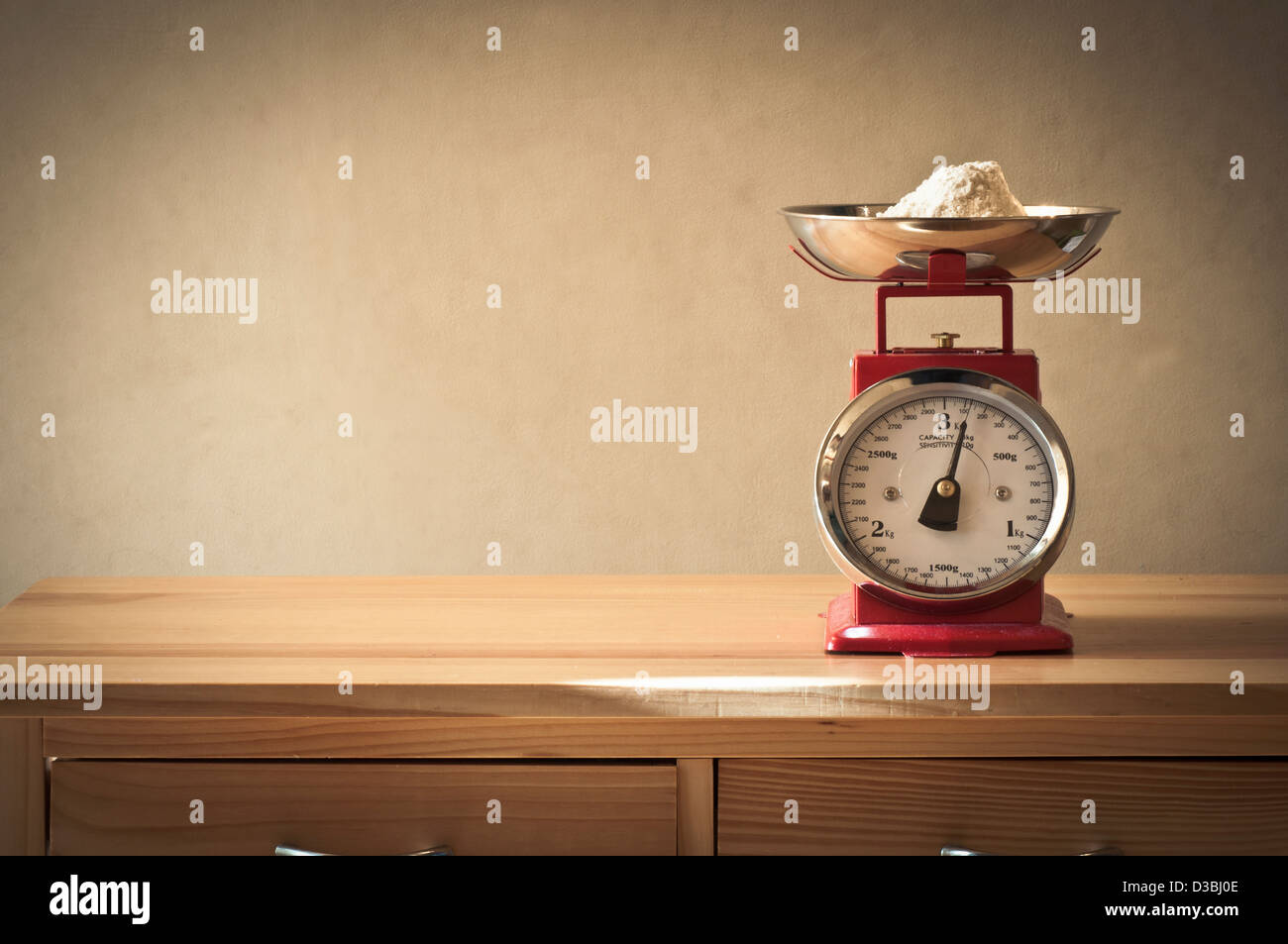 Retro kitchen scales Stock Photo