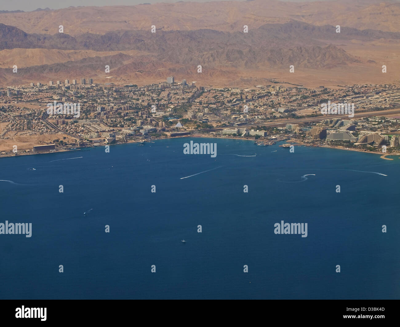 Aerial View of the city of Eilat - Stock Image