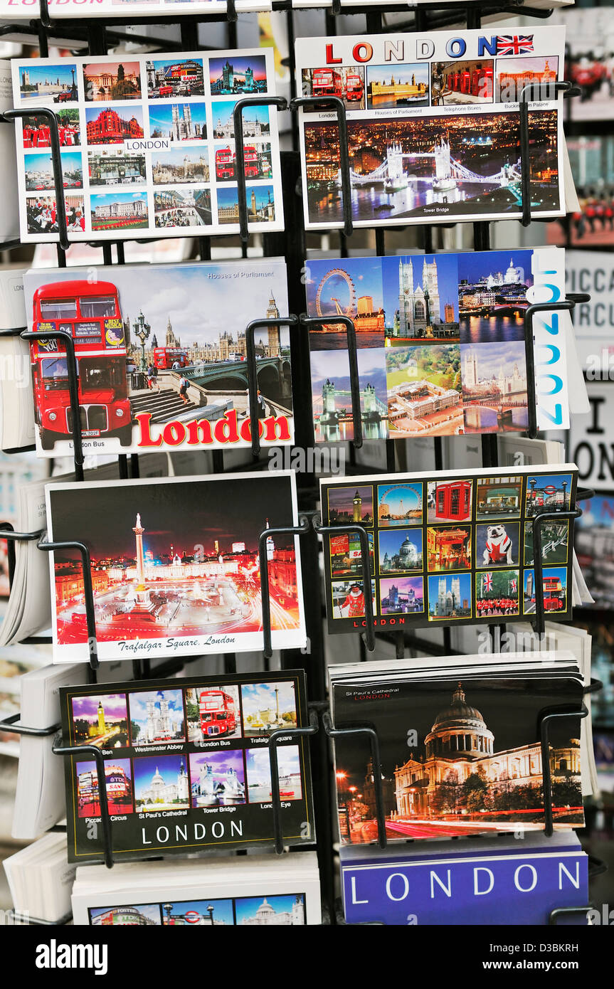 London Postcards. - Stock Image