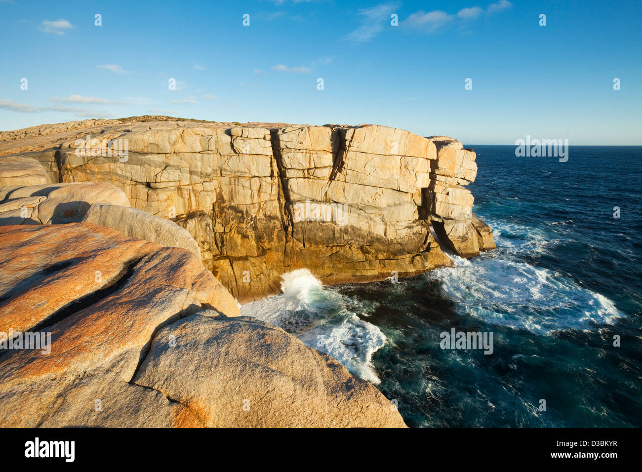 Rugged coastline at The Gap.  Torndirrup National Park, Albany, Western Australia, Australia - Stock Image