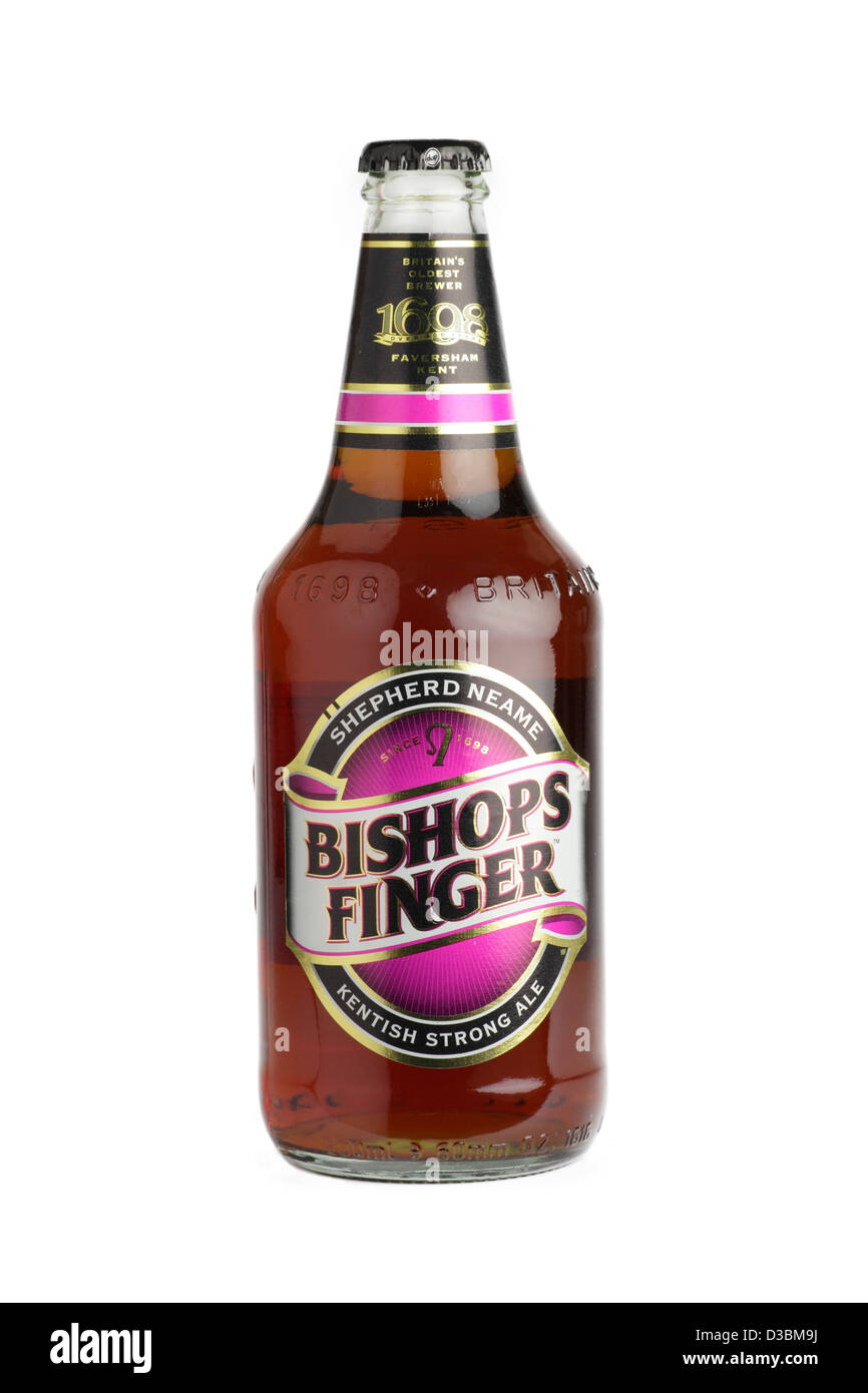 Bishops finger kentish ale - Stock Image