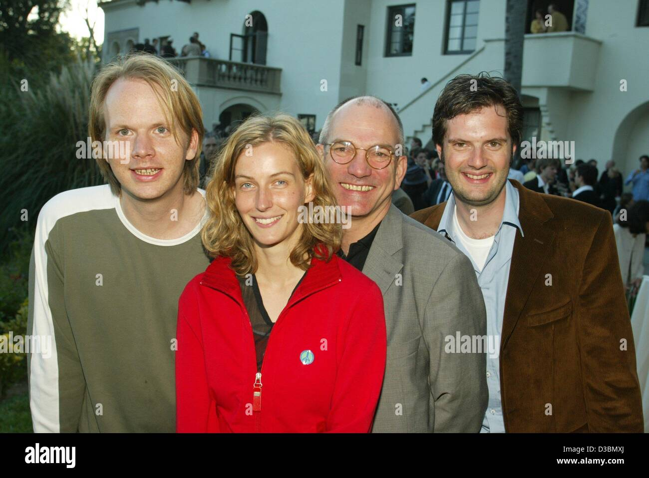(dpa) - The German film students Chris Steuner (L), Heidi Luettlinger (direction) and Georg Gruber (R, producer) - Stock Image
