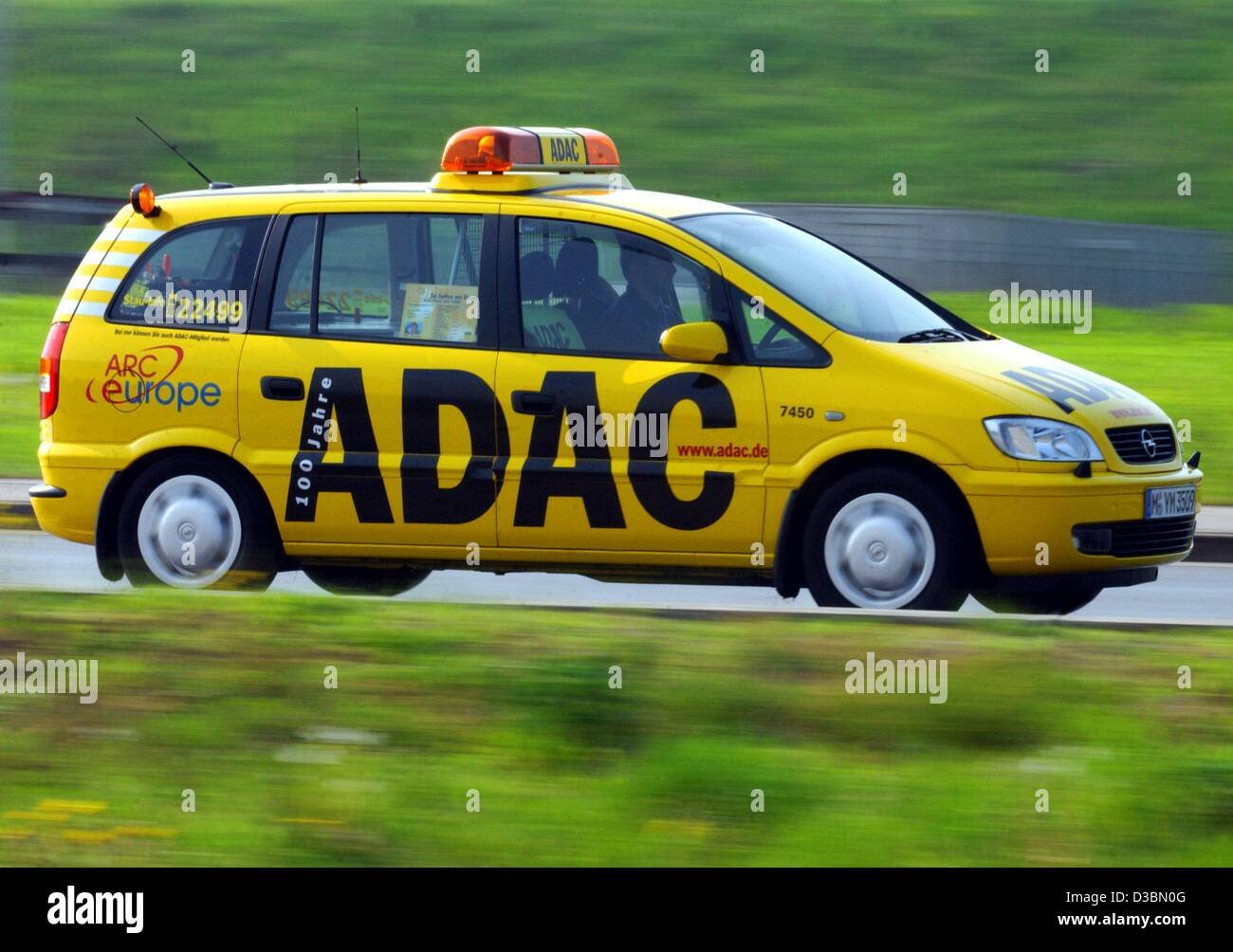 dpa a roadside assistance car of the german auto club adac drives stock photo 53733024 alamy. Black Bedroom Furniture Sets. Home Design Ideas
