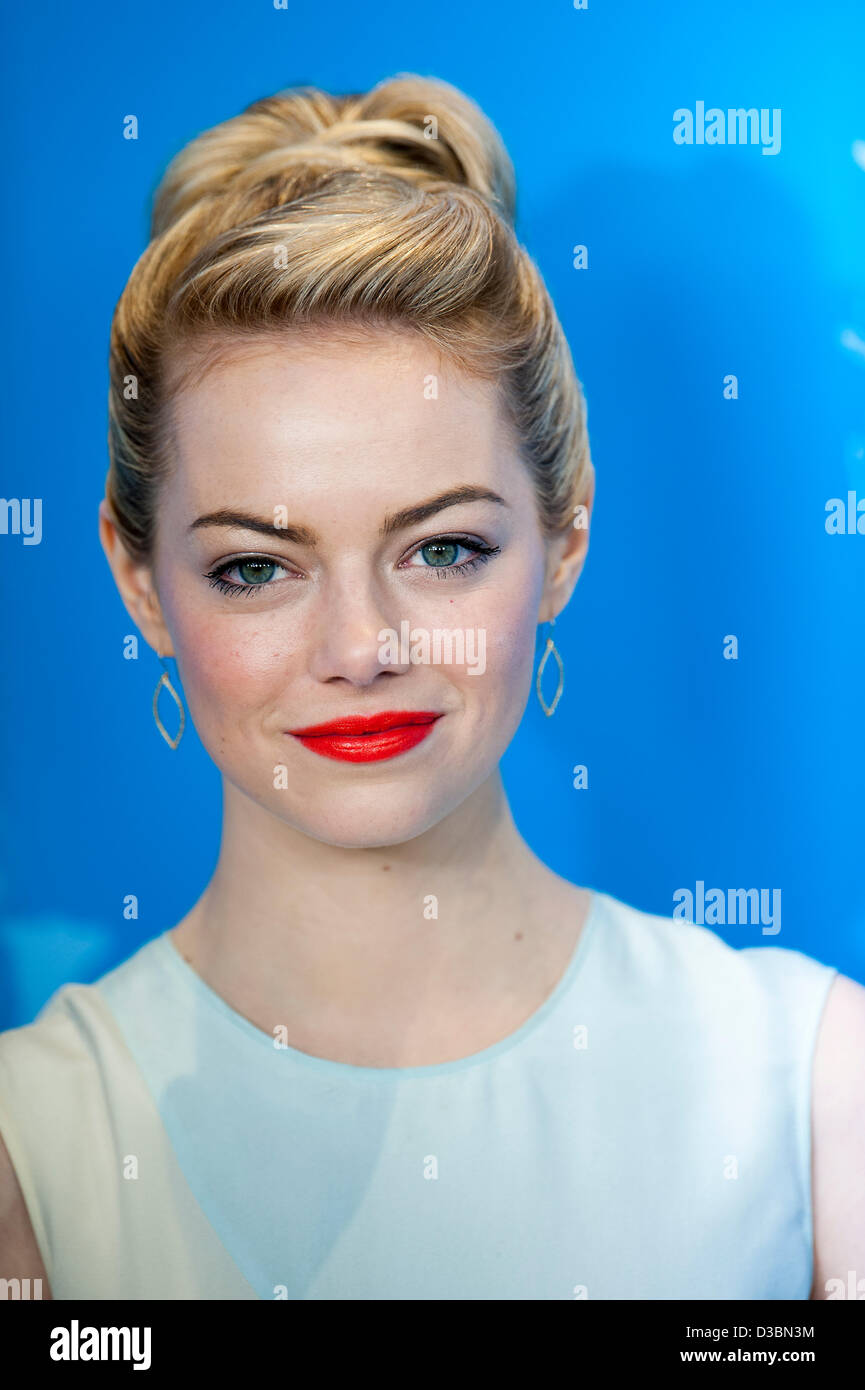 Berlin, Germany. 15th February 2013. Emma Stone attends THE CROODS at the 63rd Berlinale. Credit: Gonçalo Silva/Alamy - Stock Image
