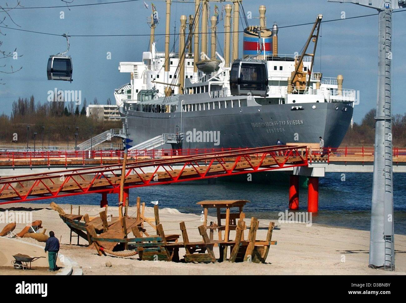 (dpa) - A restored historic ship will be the gastronomic centre of the international garden show IGA (Internationale - Stock Image