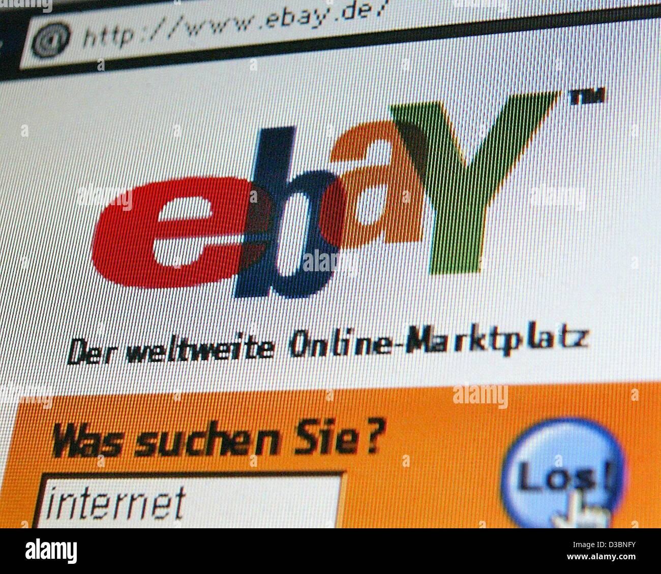 (dpa) - The logo of the online auction service 'ebay Deutschland' appears on a computer screen in Dortmund, Germany, Stock Photo