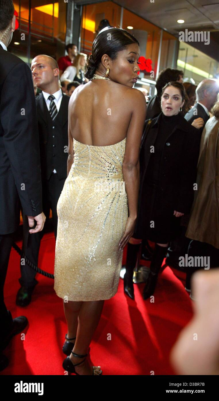 (dpa) - Hollywood actress Gabrielle Union arrives to the German premiere of her new film 'Bad Boys II', - Stock Image
