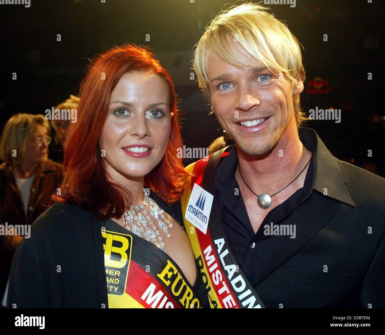 (dpa) - Ralph Schulz, the newly elected Mister Germany 2003, and Babett Konau, Miss Germany 2003 since January, - Stock Image