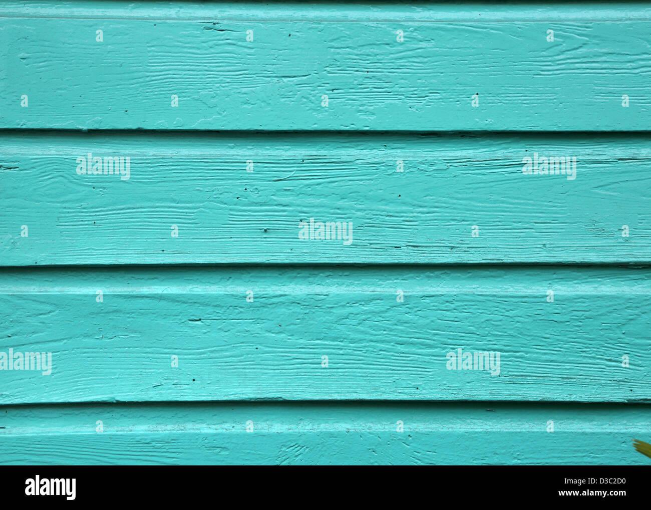 TURQUOISE WOOD BACKGROUND - Stock Image