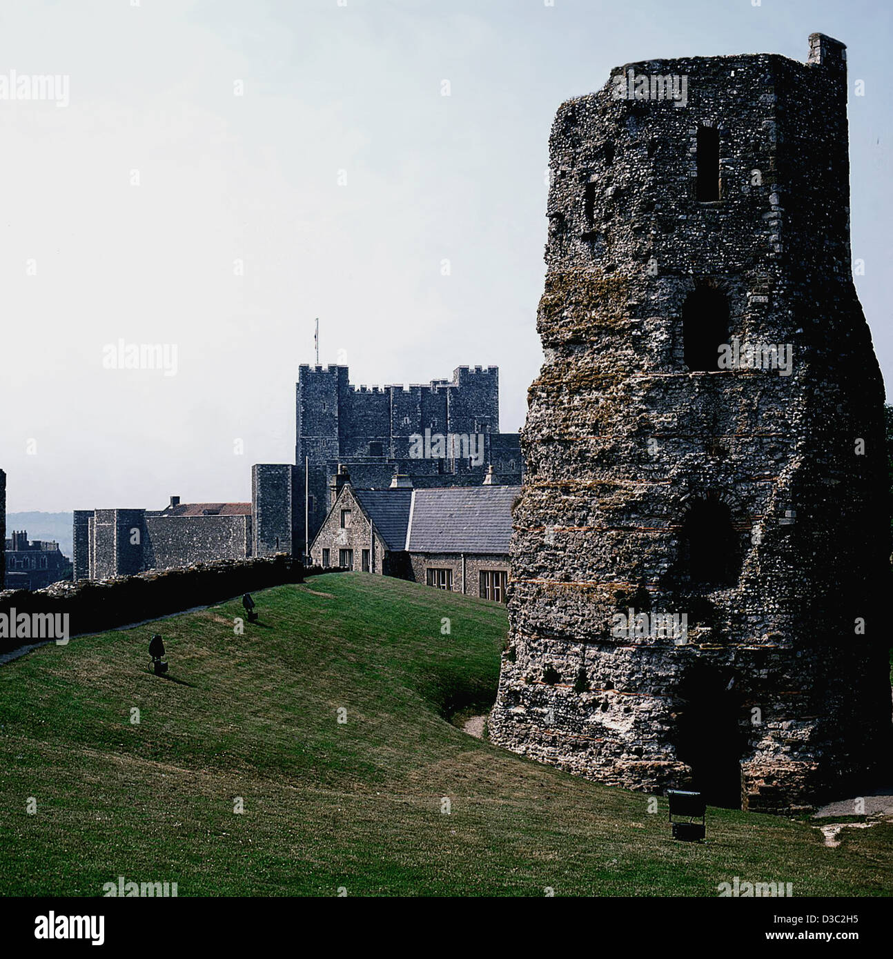 Romans construction stock photos romans construction stock images the roman pharos lighthouse at dover castle kent stock image malvernweather Choice Image