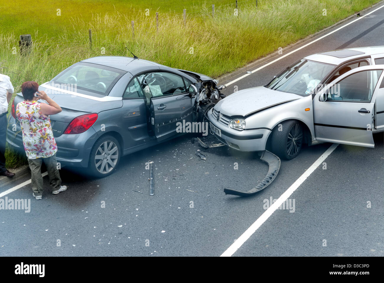 Cars, Car Accident - Stock Image