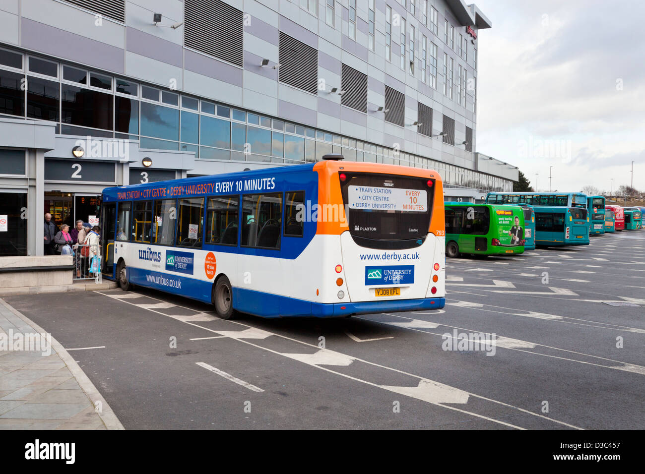 Derby bus station, England, UK - Stock Image