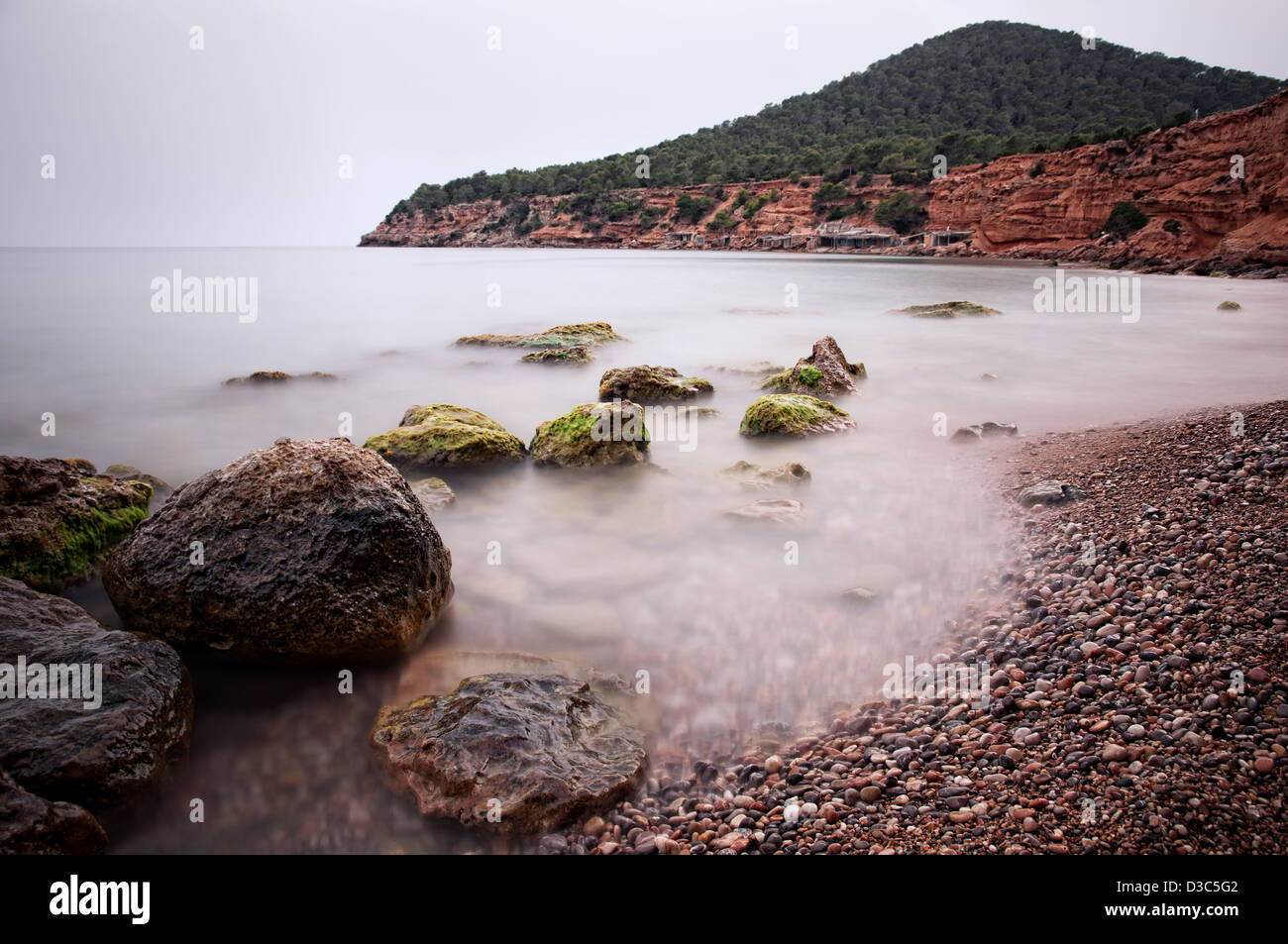 Sa Caleta beach. Ibiza, Balearic Islands, Spain - Stock Image