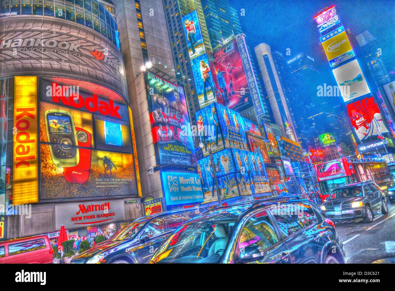 Times Square 42nd Street Manhattan New York City Night time