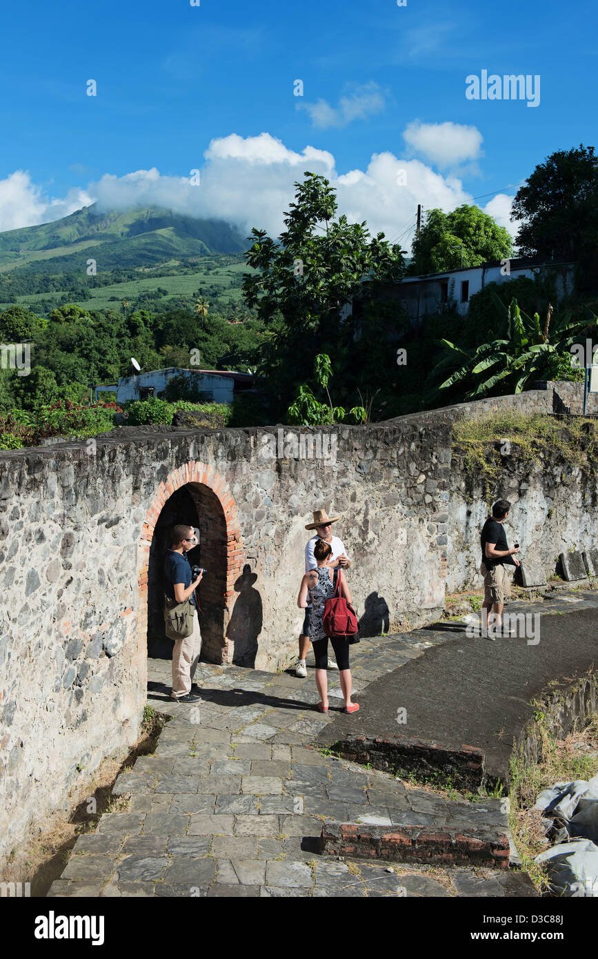 Historical city of Saint-Pierre, Martinique Island, Lesser Antilles,  Caribbean Sea, France - Stock Image