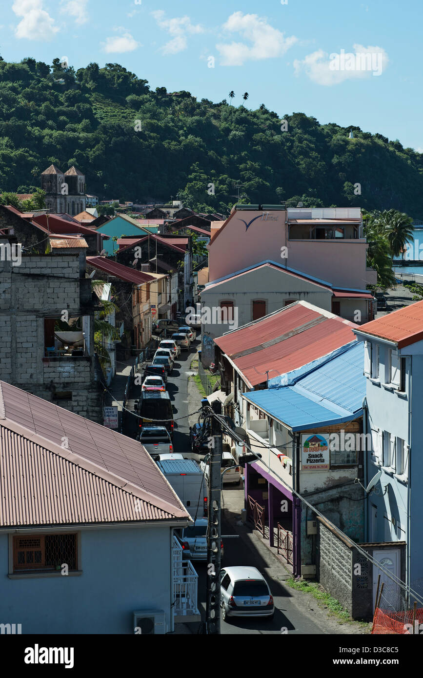 street of Historical city of Saint-Pierre, Martinique Island, Lesser Antilles,  Caribbean Sea, France - Stock Image