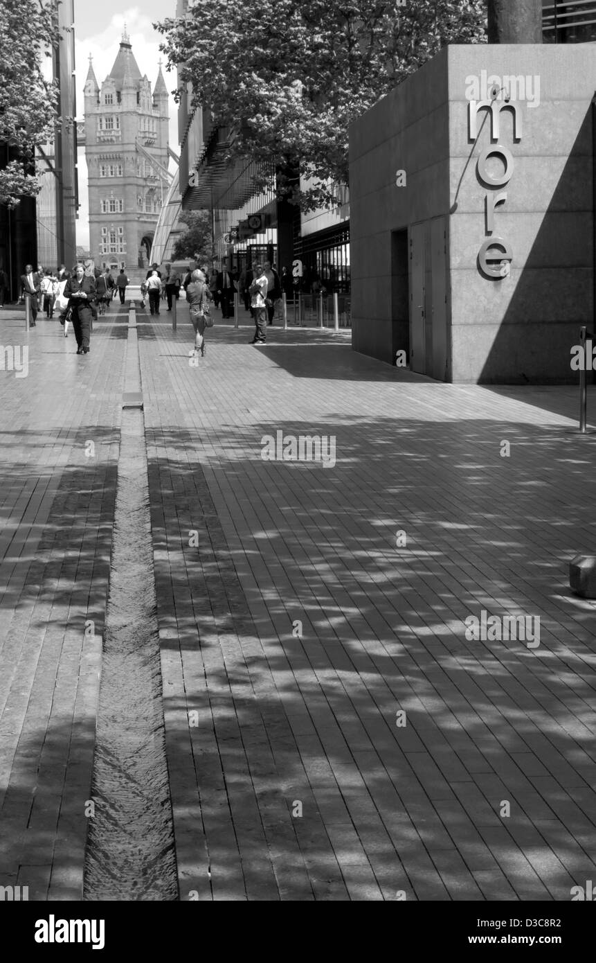Pedestrian precinct at More London near the South Bank in London, England - Stock Image