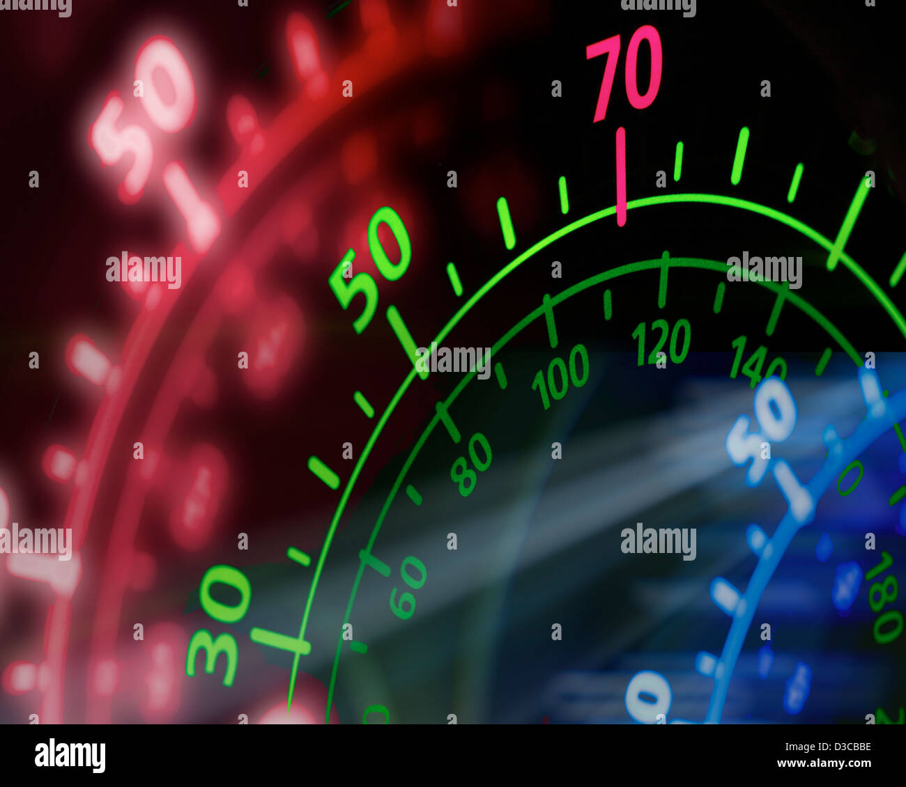 CONCEPT PHOTOGRAPHY: Speed Awareness - Stock Image