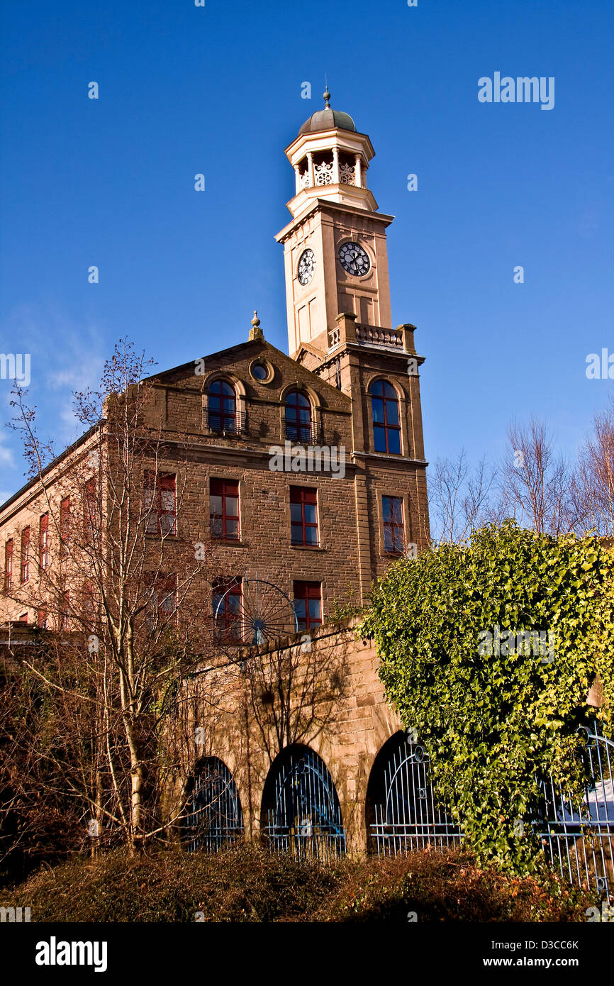 1800`s Jute Baron James Cox jute mill The Camperdown Works is a Listed Building and now modern housing at Lochee - Stock Image