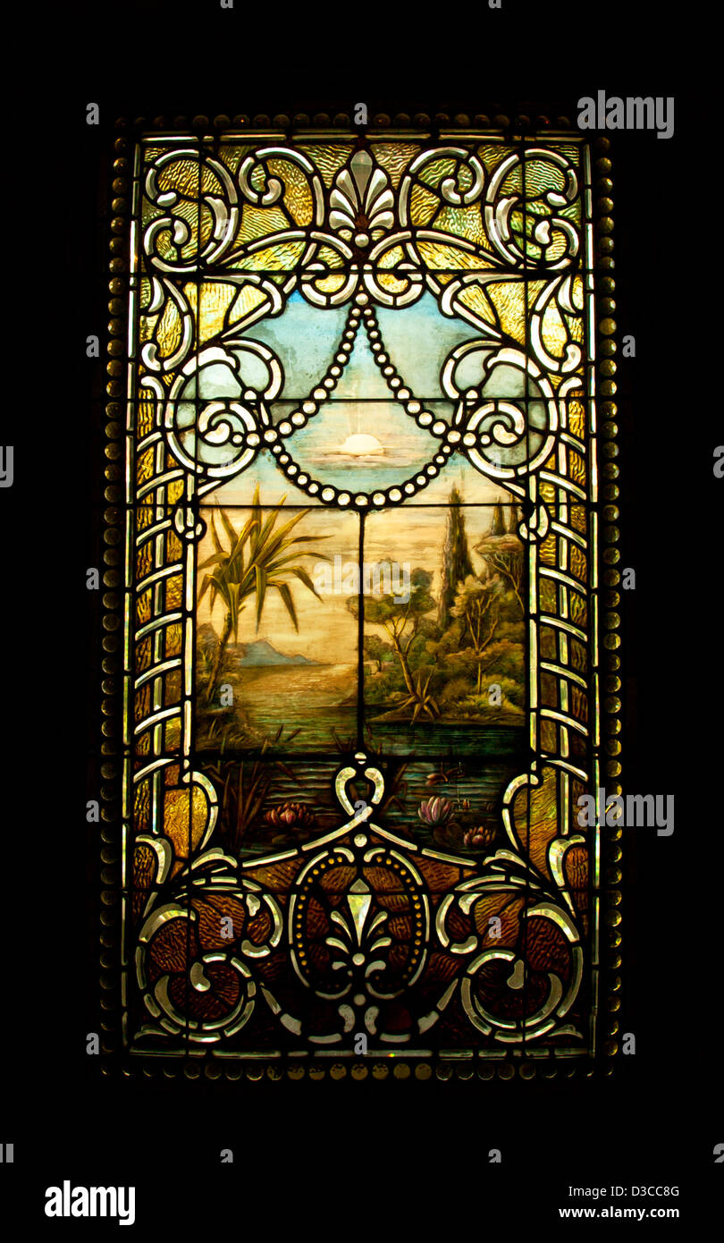 stained glass windows for home victorian style old stained glass window in victorian home stock photo 53748144
