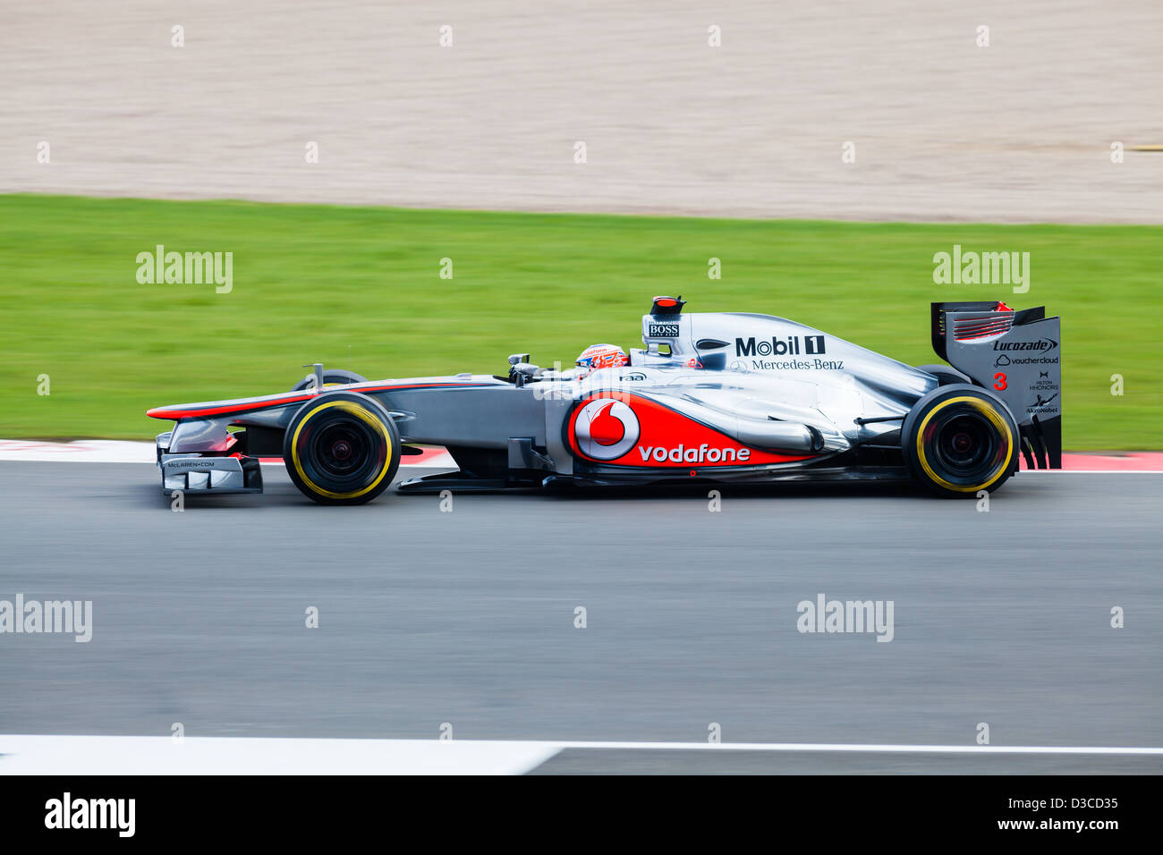 Jenson Button at Club Corner, Silverstone 2012 - Stock Image