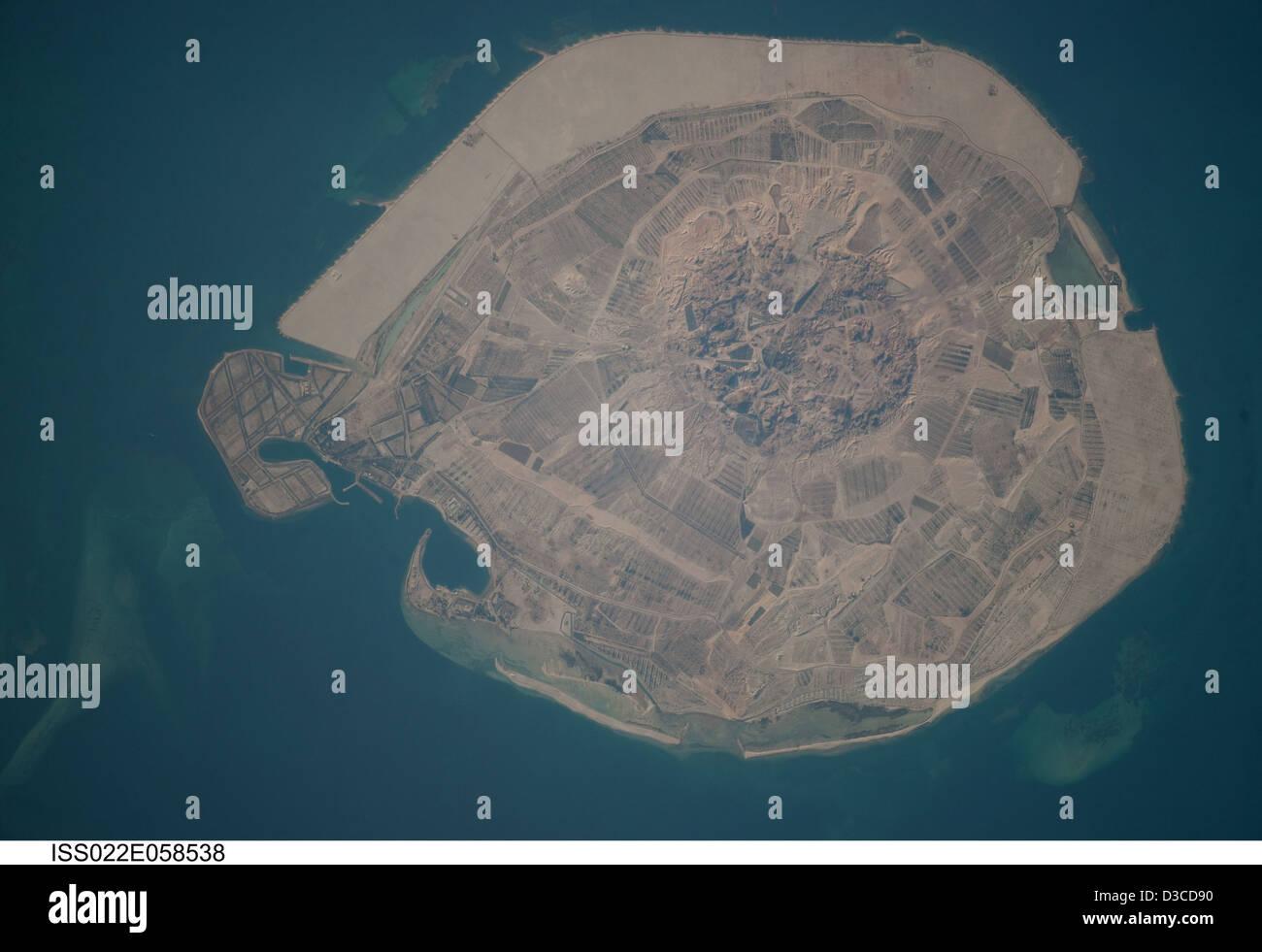 Sir Bani Yas Island (NASA, International Space Station Science, 01/31/10) - Stock Image