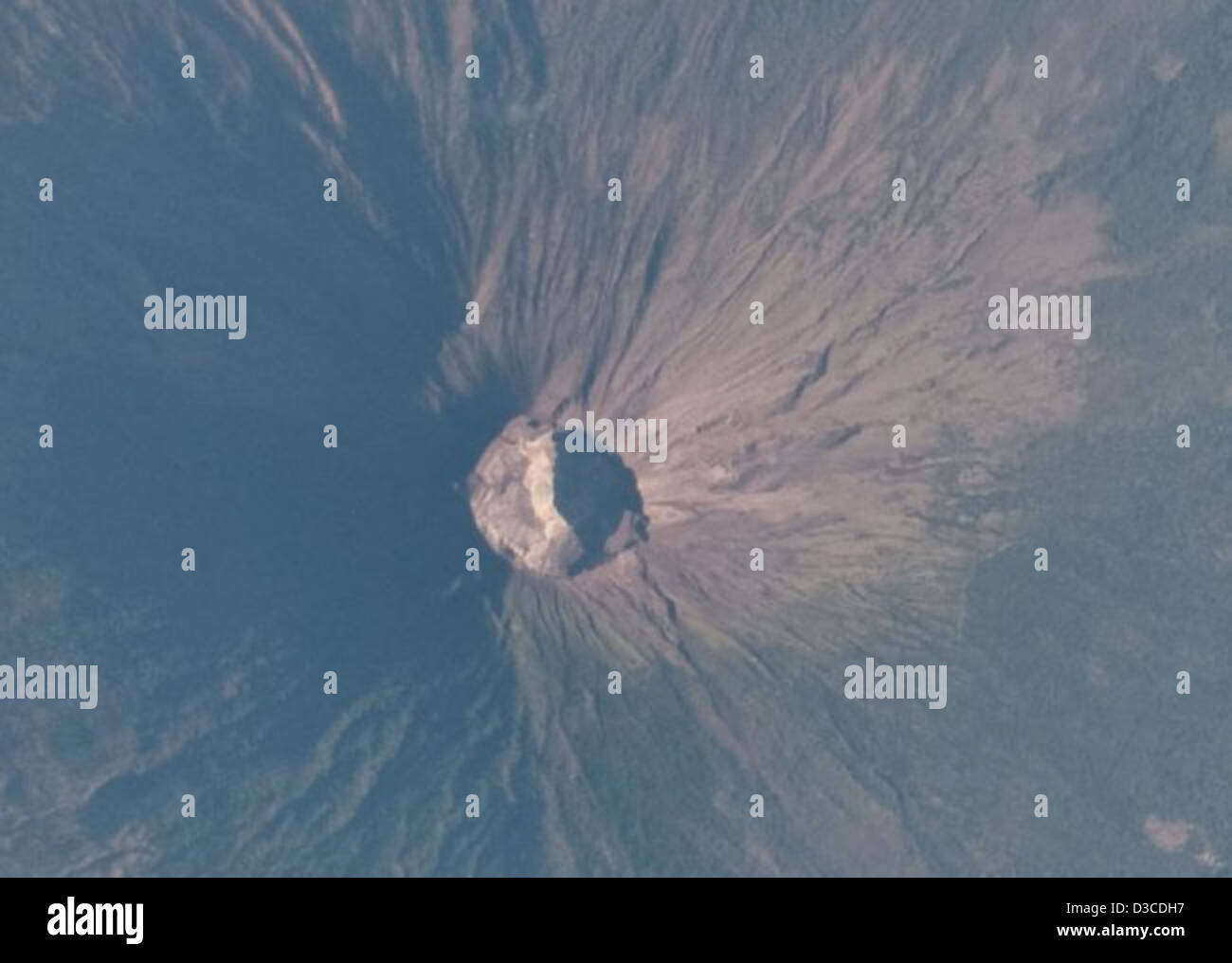 Detail: Volcanoes, Usulutan, El Salvador (NASA, International Space Station Science, 03/31/10) - Stock Image