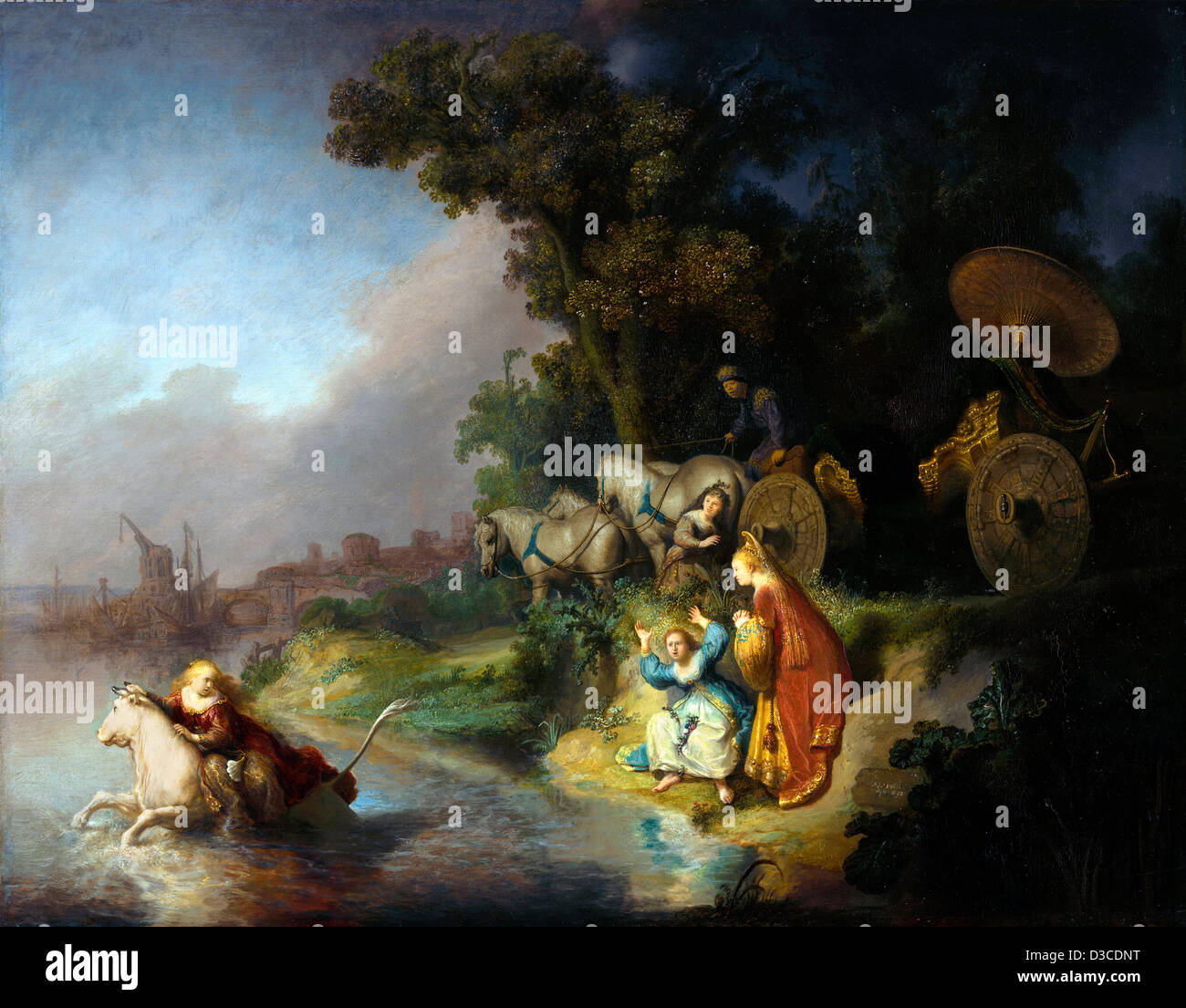 Rembrandt van Rijn, The abduction of Europa. 1632 Oil on panel. Baroque. The J. Paul Getty Museum. - Stock Image