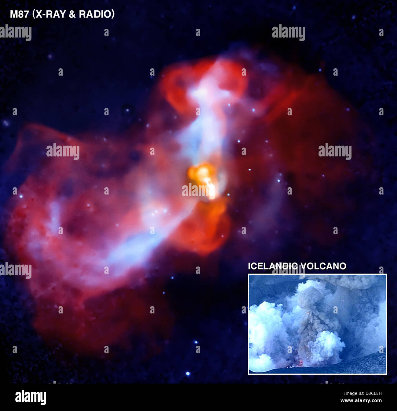 Galactic 'Super-Volcano' in Action (NASA, Chandra, 08/19/10) - Stock Image