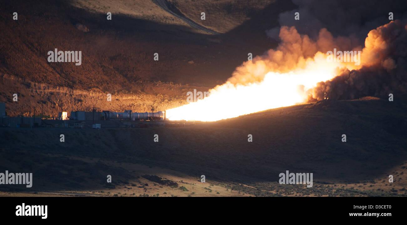 DM-2 Motor Roars in Successful Test (NASA, ATK, 08/31/10) - Stock Image