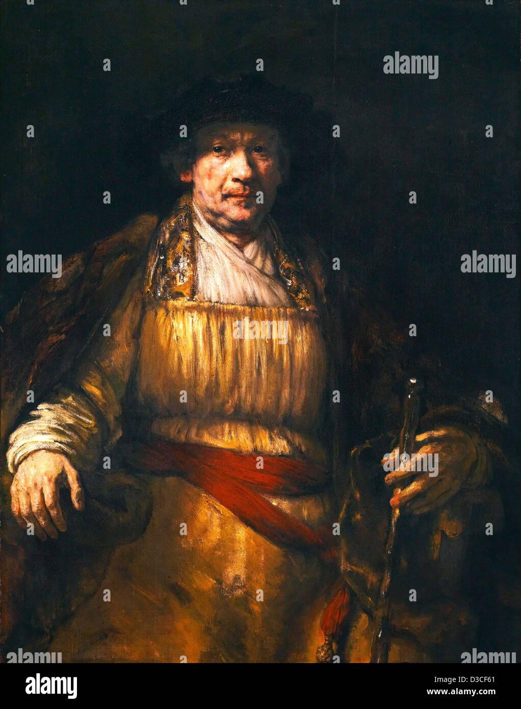 Rembrandt van Rijn, Self-portrait. 1658 Oil on canvas. Frick Collection, New York. Stock Photo