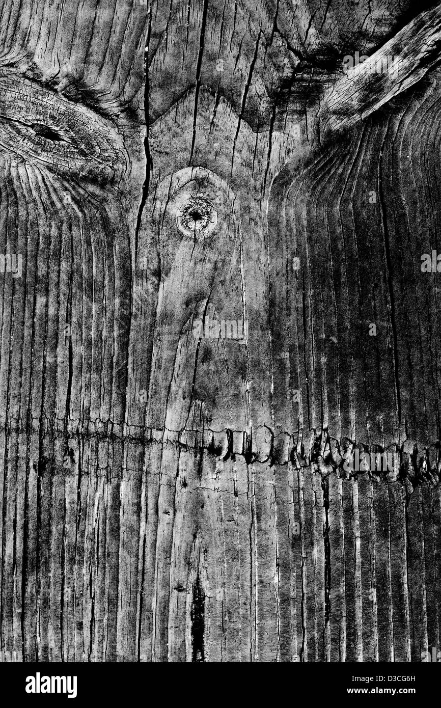 Close view detail of an old texture of wooden planks. - Stock Image