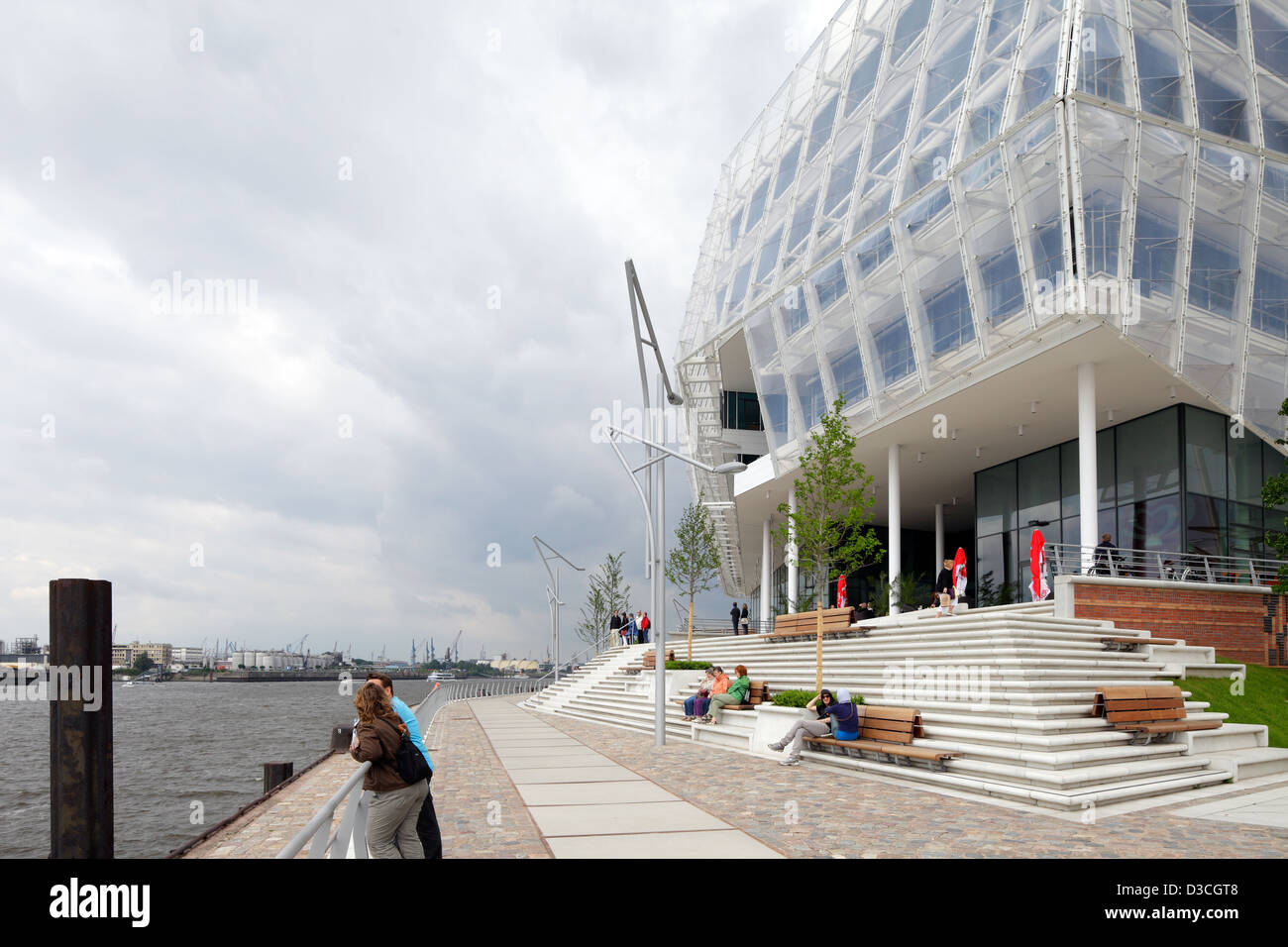 Hamburg, Germany, Germany headquarters of Unilever at Strandkai - Stock Image
