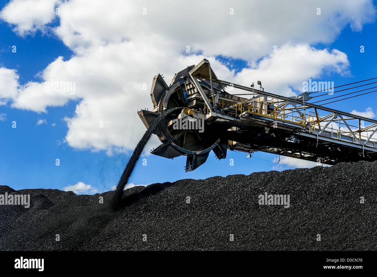 Coal mining stacker South Australia Stock Photo