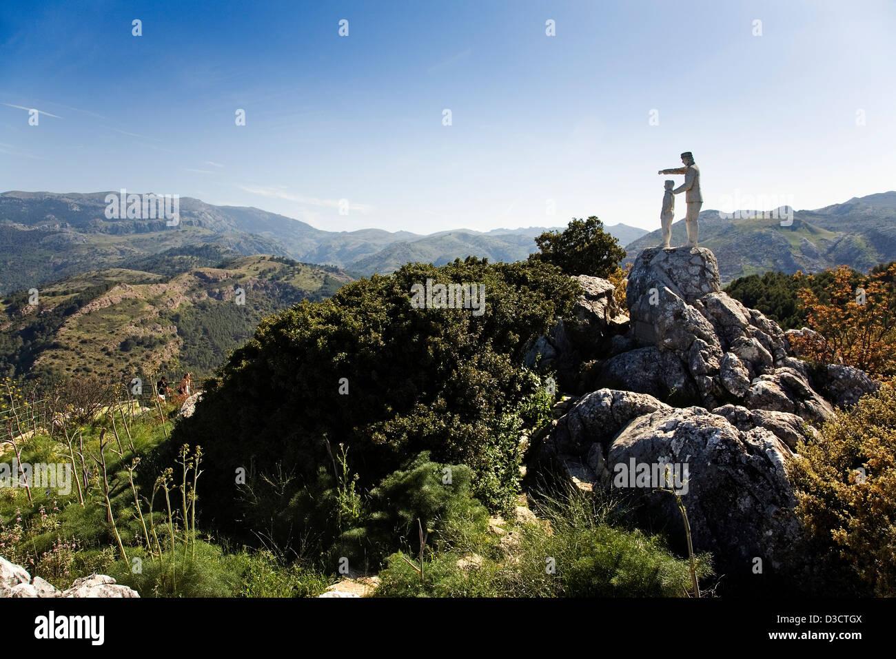 Memorial Forest Guard Serrania de Ronda Malaga Andalusia Spain - Stock Image