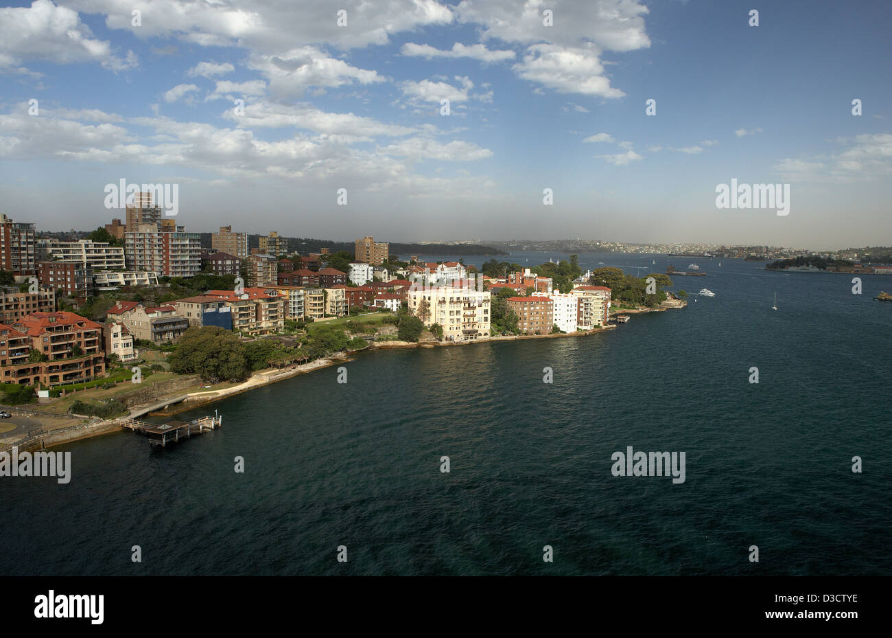 Sydney, Australia, the suburb of Kirribilli seen from the Harbour Bridge - Stock Image