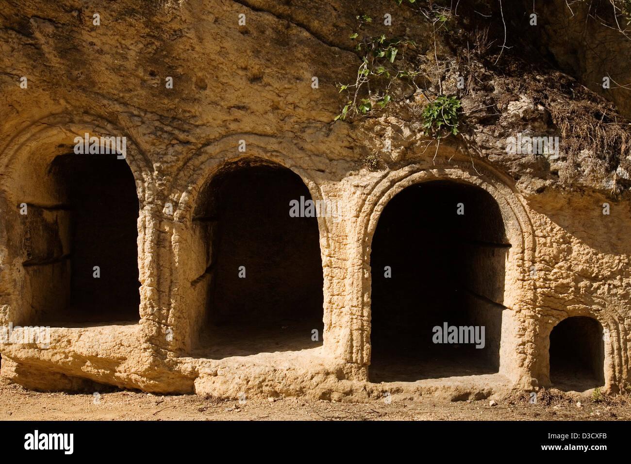 Christian necropolis Montefrio village Granada Andalusia Spain - Stock Image
