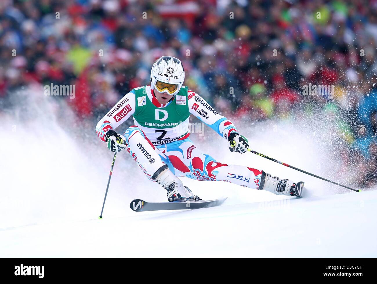 15.02.2013. Schladming, Austria. FIS Alpine Ski World Championships 2013 Giant slalom for men Picture shows Alexis Stock Photo