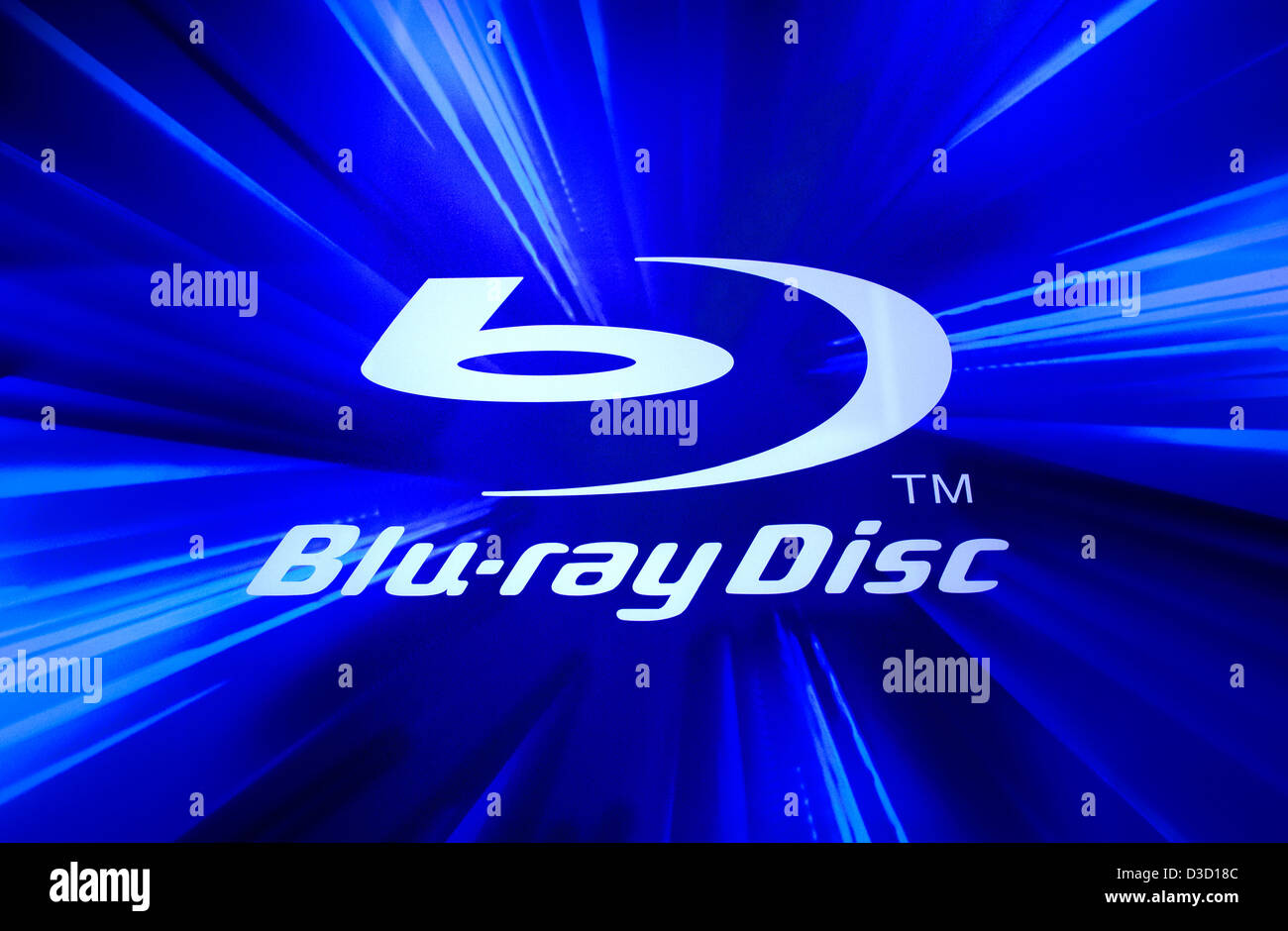 Berlin, Germany, the logo for the Blu-ray Disc - Stock Image