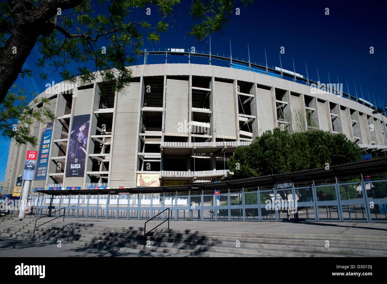 camp nou stadium,fcb,barcelona,catalunya,spain - Stock Image