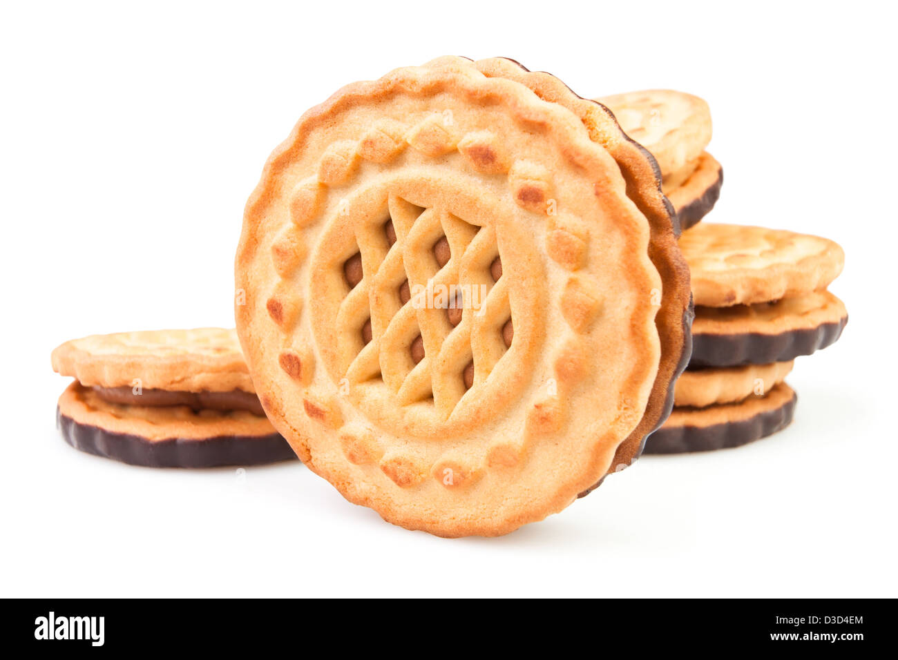 cookie group on white background - Stock Image